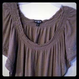 Beautiful Brown flowy shirt from Express